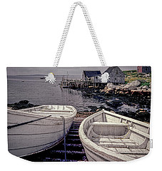 Boats Near Peggys Cove Weekender Tote Bag