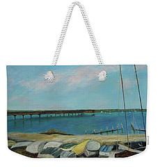 Boats Of Salt Run Too Weekender Tote Bag