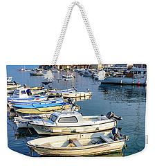 Boats Of The Adriatic, Rovinj, Istria, Croatia  Weekender Tote Bag