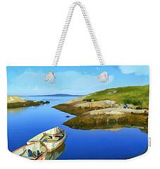 Boats Waiting In Calm Waters Weekender Tote Bag
