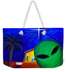 Bob At The Manger Weekender Tote Bag by Lola Connelly