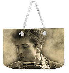 Weekender Tote Bag featuring the digital art Bob Dylan by Anthony Murphy