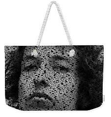 Bob Dylan Song List Mosaic Weekender Tote Bag by Paul Van Scott