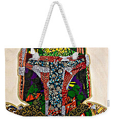 Weekender Tote Bag featuring the tapestry - textile Boba Fett Star Wars Afrofuturist Collection by Apanaki Temitayo M