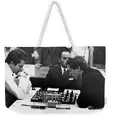 Weekender Tote Bag featuring the photograph Bobby Fischer (1943-2008) by Granger