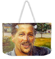 Weekender Tote Bag featuring the painting Bobby by Stan Esson
