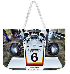 Bobby Unser's 1972 Indianapolis 500 Car. Weekender Tote Bag