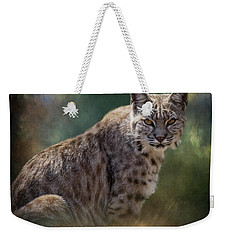Bobcat Gaze Weekender Tote Bag
