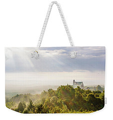Weekender Tote Bag featuring the photograph Bobolice Castle In The Morning Haze by Dmytro Korol