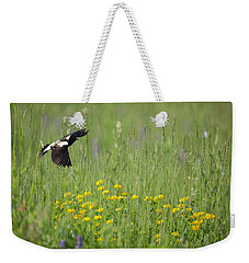 Weekender Tote Bag featuring the photograph Bobolink In Paradise by Bill Wakeley