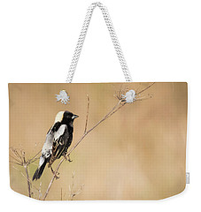 Weekender Tote Bag featuring the photograph Bobolink  by Ricky L Jones