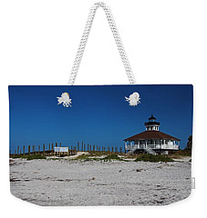 Weekender Tote Bag featuring the photograph Boca Grande Lighthouse Ix by Michiale Schneider