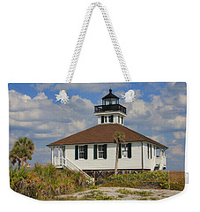 Weekender Tote Bag featuring the photograph Boca Grande Lighthouse View Three by Rosalie Scanlon