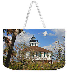 Weekender Tote Bag featuring the photograph Boca Grande Lighthouse View Two by Rosalie Scanlon