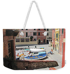 Boccadasse-  Genoa- Harbor Weekender Tote Bag