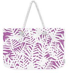 Bodacious Ferns White Weekender Tote Bag