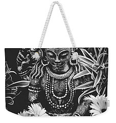 Weekender Tote Bag featuring the photograph Bodhisattva Parametric by Sharon Mau