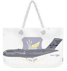 Weekender Tote Bag featuring the digital art Boeing C-17 Globemaster IIi Mcguire Afb by Arthur Eggers