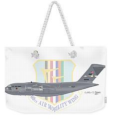 Weekender Tote Bag featuring the digital art Boeing C-17 Globemaster IIi Travis Afb by Arthur Eggers