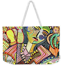 Bohemian Tea Garden Woman' Weekender Tote Bag
