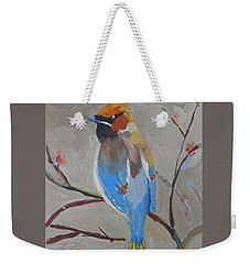 Bohemian Wax Wing Weekender Tote Bag