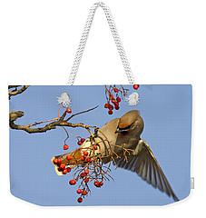 Bohemian Waxwing Weekender Tote Bag