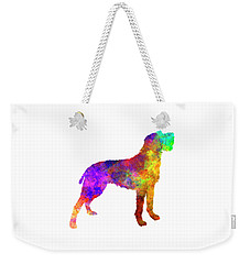Bohemian Wirehaired Pointing Griffon In Watercolor Weekender Tote Bag by Pablo Romero
