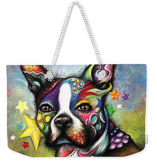 Boston Terrier Weekender Tote Bag by Patricia Lintner