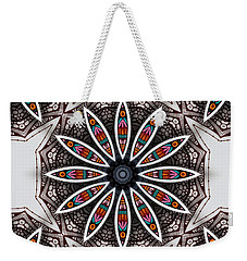Weekender Tote Bag featuring the digital art Boho Flower by Mo T