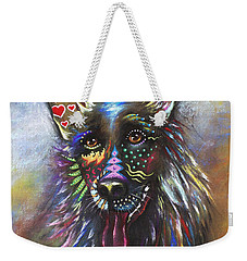 German Shepherd Weekender Tote Bag by Patricia Lintner