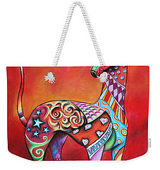 Italian Greyhound  Weekender Tote Bag by Patricia Lintner