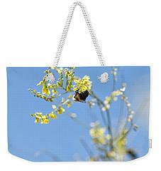 Bokeh Bee Weekender Tote Bag