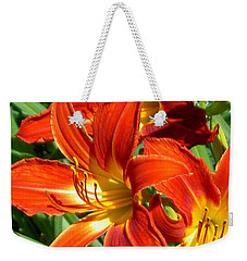 Bold And Beautiful Lilies Weekender Tote Bag