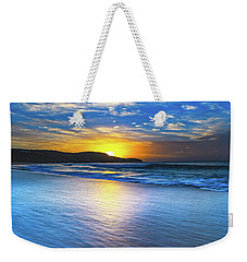 Bold And Blue Sunrise Seascape Weekender Tote Bag