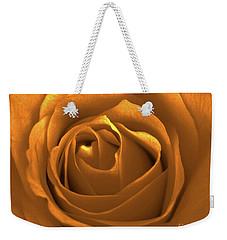 Bold Blossom Copper Rose Weekender Tote Bag by Patricia E Sundik