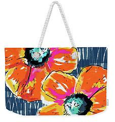 Bold Orange Poppies- Art By Linda Woods Weekender Tote Bag by Linda Woods