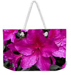 Bold Pink Flower Weekender Tote Bag