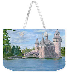 Weekender Tote Bag featuring the painting Boldt's Power House by Lynne Reichhart