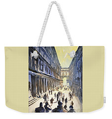 Weekender Tote Bag featuring the painting Bologna Sunset- Italy by Ryan Fox