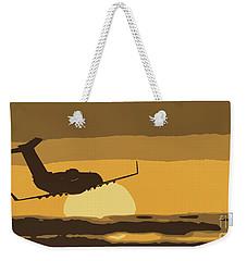 Bombardier Crj-200er Flying Sunset Weekender Tote Bag