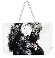 Weekender Tote Bag featuring the digital art Bon Jovi by Gina Dsgn
