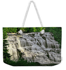 Weekender Tote Bag featuring the photograph Bond Falls - Haight - Michigan 001 by George Bostian