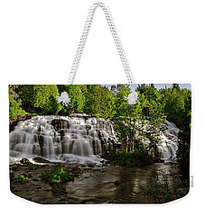 Weekender Tote Bag featuring the photograph Bond Falls - Haight - Michigan 003 by George Bostian