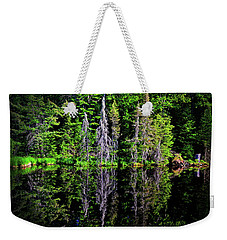 Bond Falls - Michigan 001 - Reflection Weekender Tote Bag by George Bostian