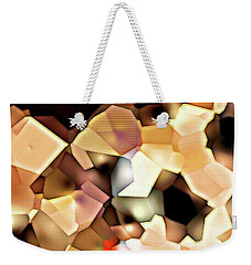 Weekender Tote Bag featuring the digital art Bonded Shapes by Ron Bissett