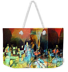 Weekender Tote Bag featuring the photograph Bonfire Party by Karen Newell