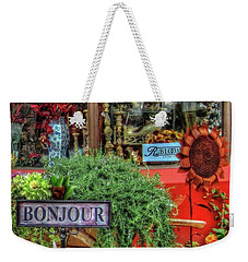 Bonjour Hello Good Day Weekender Tote Bag by Thom Zehrfeld