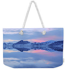 Weekender Tote Bag featuring the photograph Bonneville Lake by Chad Dutson