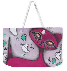 Bonnie Cat Weekender Tote Bag by Abril Andrade Griffith