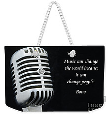 Bono On Music Weekender Tote Bag